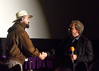 SAN RAFAEL, CA - OCTOBER 09: Shia LaBeouf and MVFF Director Mark Fishkin onstage during special screening of 'Honey Boy' during the 42nd Mill Valley Film Festival at the Century Larkspur Landing on October 9, 2019 in San Rafael, California. Photo: imageSPACE for the Mill Valley Film Festival/MediaPunch