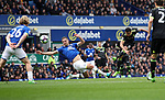 Pedro of Chelsea scores during the English Premier League match at Goodison Park , Liverpool. Picture date: April 27th, 2016. Photo credit should read: Lynne Cameron/Sportimage