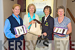 Dorothy Nestor, Lady Captain Beaufort Golf Resort, pictured with the winners in the scotch fourball competition sponsored by Dunloe Castle Hotel at the course on Wednesday. Pictured are Taal Burke, Denise O'Sullivan and Margaret Moriarty. Missing from the photo is joint winner Ogie O'Sullivan.........