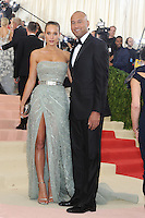 NEW YORK , NY- MAY 2: Hannah Davis and Derek Jeter at the 'Manus x Machina: Fashion In An Age Of Technology' Costume Institute Gala at Metropolitan Museum of Art on May 2, 2016 in New York City. Credit: John Palmer/MediaPunch