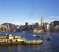 Star ferry at the Victoria Habour, Hong Kong.