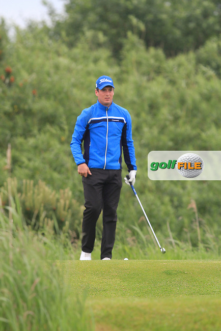 Colin Fairweather (Knock) on the 4th tee during Round 5 of the Irish Amateur Close Championship at Seapoint Golf Club on Tuesday 10th June 2014.<br /> Picture:  Thos Caffrey / www.golffile.ie
