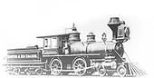 An engineer's-side builder's photo of D&amp;RG American #88, &quot;Ptarmigan&quot;, at Baldwin Locomotive Works.<br /> D&amp;RG  Philadelphia, PA  Taken by , Baldwin Locomotive Works - 1880