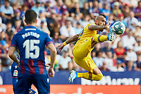 2nd November 2019; Estadi Ciutat de Valencia, Valencia, Spain; La Liga Football, Levante versus FC Barcelona; Arturo Vidal of FCB climbs for a high ball