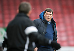 Ross County v St Johnstone&hellip;18.02.17     SPFL    Global Energy Stadium, Dingwall<br />Tommy Wright has wordsa with Billy Dodds<br />Picture by Graeme Hart.<br />Copyright Perthshire Picture Agency<br />Tel: 01738 623350  Mobile: 07990 594431