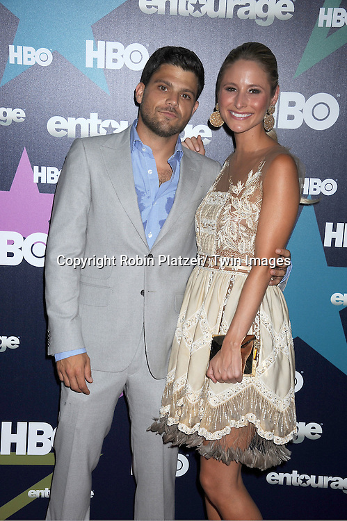 "Jerry Ferrara and girlfriend attending The Eighth and Final Season Premiere of the HBO Show ""Entourage"" on July 19, 2011 at The Beacon Theatre in New York City."