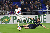 2nd November 2017, Nice, France; EUFA Europa League, Olympique Lyonnais versus Everton;   Maxwel Cornet (lyon) skips the tackle from Jonjoe Kenny (averton)