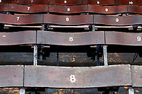 A genera view of the wooden seating at Southend United during the Sky Bet League 1 match between Southend United and Fleetwood Town at Roots Hall, Southend, England on 13 January 2018. Photo by Carlton Myrie.