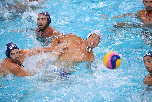 Akira Yanase (JPN), <br /> AUGUST 8, 2016- Water Polo : <br /> Men's Preliminary Round group A<br /> match between Japan - Brazil <br /> at Maria Lenk Aquatic Centre <br /> during the Rio 2016 Olympic Games in Rio de Janeiro, Brazil. <br /> (Photo by Yohei Osada/AFLO SPORT)