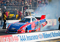 Sep 29, 2019; Madison, IL, USA; NHRA funny car driver Robert Hight during the Midwest Nationals at World Wide Technology Raceway. Mandatory Credit: Mark J. Rebilas-USA TODAY Sports