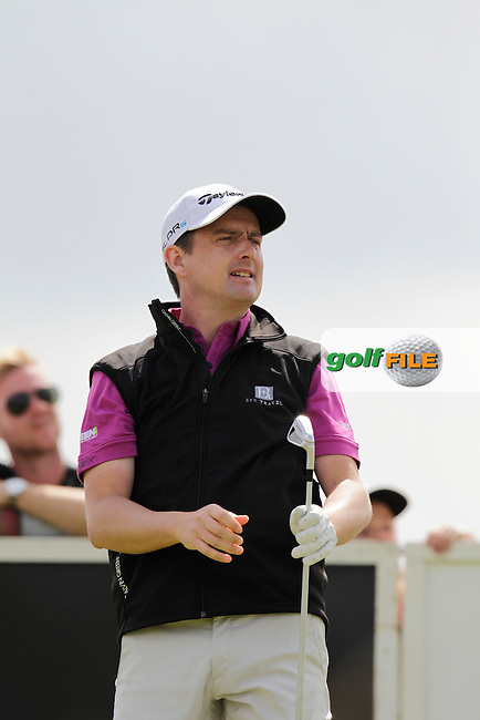 Peter Lawrie (IRL) tees off the 15th tee during Sunday's Final Round of the 2014 Nordea Masters held at the PGA of Sweden National Lakes Course, Malmo, Sweden.1st June 2014.<br /> Picture: Eoin Clarke www.golffile.ie
