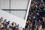 Blackpool 2 Liverpool 1, 12/01/2011. Bloomfield Road, Premier League. Home fans leaving the stands at Blackpool FC's Bloomfield Road stadium after the final whistle against Liverpool FC in a Premier League match. The home side won by two goals to one in front of a crowd of 16,089. It was the first time the clubs had met in a league match since Blackpool were last in the top division of English football in 1970-71. Photo by Colin McPherson.