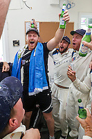 Picture by Alex Whitehead/SWpix.com - 12/09/2014 - Cricket - LV County Championship Div One - Nottinghamshire CCC v Yorkshire CCC, Day 4 - Trent Bridge, Nottingham, England - Yorkshire's Andrew Gale celebrates in the dressing room.