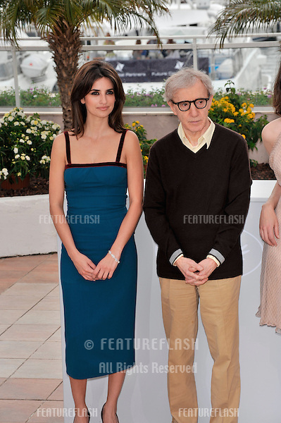 "Woody Allen & Penelope Cruz at the photocall for their new movie ""Vicky Cristina Barcelona"" at the 61st Annual International Film Festival de Cannes..May 17, 2008  Cannes, France..Picture: Jaguar"