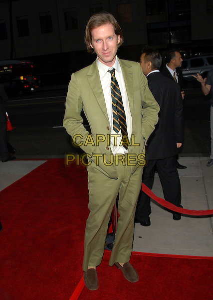 WES ANDERSON.The FOX Searchlight L.A. Premiere of The Darjeeling Limited held at The Academy of Motion Picture Arts & Sciences in Beverly Hills, California, USA..October 4th, 2007 .full length green suit hands in pockets .CAP/DVS.©Debbie VanStory/Capital Pictures