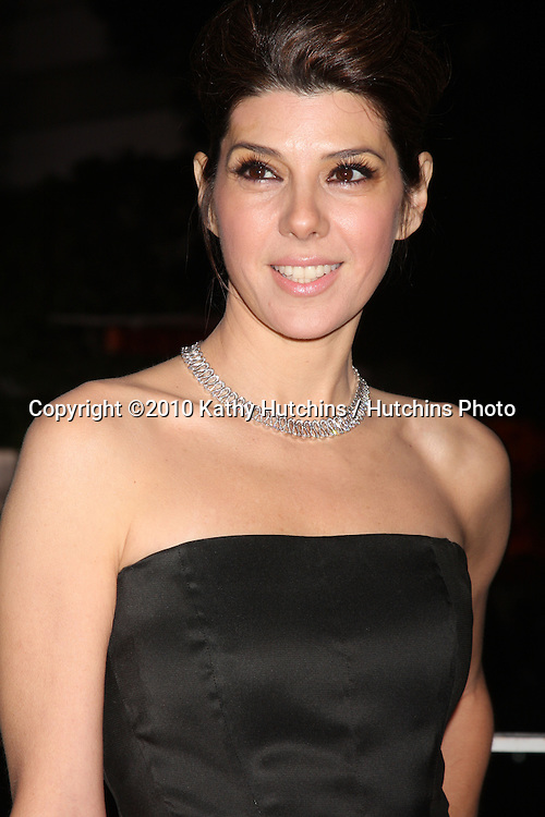 Marisa Tomei.arriving at the 3rd Annual Art of Elysium Gala.Rooftop of Parking Garage across from Beverly Hilton Hotel.Beverly Hills, CA.January 16, 2010.©2010 Kathy Hutchins / Hutchins Photo....