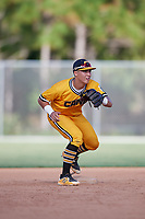 Anthony Volpe during the WWBA World Championship at the Roger Dean Complex on October 18, 2018 in Jupiter, Florida.  Anthony Volpe is a shortstop from Watchung, New Jersey who attends Delbarton High School and is committed to Vanderbilt.  (Mike Janes/Four Seam Images)