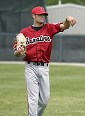 June 6, 2004:  Pitcher Mike Hinckley of the Harrisburg Senators, Eastern League (Doube-A) affiliate of the Montreal Expos (Washington Nationals) during a game at Jerry Uht Park in Erie, PA.  Photo by:  Mike Janes/Four Seam Images
