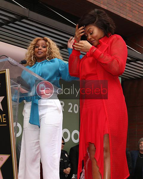 Mary J Blige, Taraji P Henson<br /> at the Taraji P. Henson Star on the Hollywood Walk of Fame, Hollywood, CA 01-28-19<br /> David Edwards/DailyCeleb.com 818-249-4998