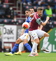 Burnley's Johann Guomundsson battles for the ball<br /> <br /> Photographer Dave Howarth/CameraSport<br /> <br /> The Premier League - Burnley v Brighton & Hove Albion - Sunday 26th July 2020 - Turf Moor - Burnley<br /> <br /> World Copyright © 2020 CameraSport. All rights reserved. 43 Linden Ave. Countesthorpe. Leicester. England. LE8 5PG - Tel: +44 (0) 116 277 4147 - admin@camerasport.com - www.camerasport.com