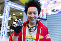 An exhibitor shows a Takara Tomy ''Beyblade Burst B-34 Starter Victory Valkyrie Boost Variable'' at the International Tokyo Toy Show 2016 in Tokyo Big Sight on June 9, 2016, Tokyo, Japan. The annual exhibition showcases some 35,000 toys from 160 toy makers from Japan and overseas. The show runs to June 12th and organisers expect to attract 160,000 visitors. (Photo by Rodrigo Reyes Marin/AFLO)