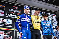 Podium<br /> <br /> 1st place: Danny Van Poppel (NED/Lotto NL - Jumbo)<br /> 2nd place: Fabio Jakobsen (NED/Quick Step Floors)<br /> 3th place: Sean De Bie (BEL/Veranda's Willems)<br /> <br /> 71th Halle Ingooigem 2018 (1.1)<br /> 1 Day Race: Halle > Ingooigem (197.7km)