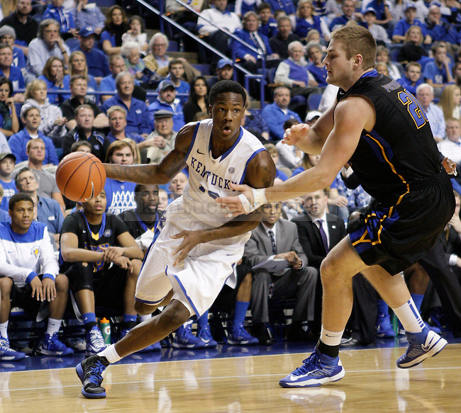 UK guard Archie Goodwin dribbes the ball at the UK men's baksetball game vs. Morehead State at Rupp Arena in Lexington, Ky., on Wednesday, November 21, 2012. Photo by Tessa Lighty | Staff