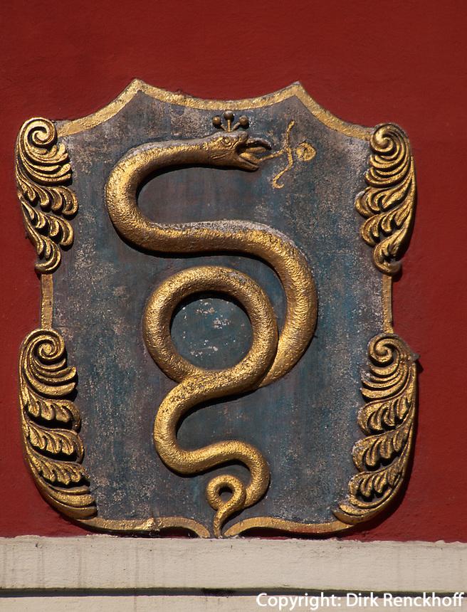 Hauszeichen auf der Karlova, Prag, Tschechien, Unesco-Weltkulturerbe