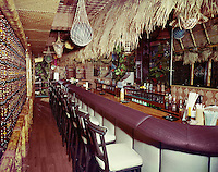 Beachcomber Hotel, Harrisburg PA. Tiki themed bar.