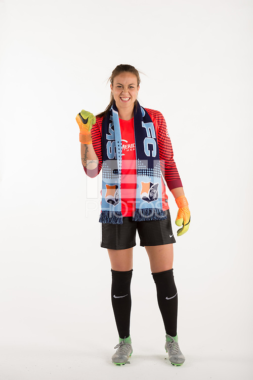 Belmar, NJ - Wednesday March 29, 2017: Kailen Sheridan poses for photos at the Sky Blue FC team photo day.