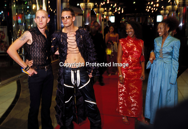 dipptee00029 .TeenagerJOHANNESBURG, SOUTH AFRICA - MAY 4: Unidentified people arriving at the annual South African music awards, where awards are given out to the best artists of the year on May 4, 2002 in Midrand north of Johannesburg, South Africa. After eight years into democracy a new black middleclass and elite is growing, and they have money to spend on houses, cars and entertainment. .©Per-Anders Pettersson/iAfrika Photos