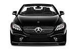Car photography straight front view of a 2019 Mercedes Benz C-Class C300- 2 Door Convertible Front View