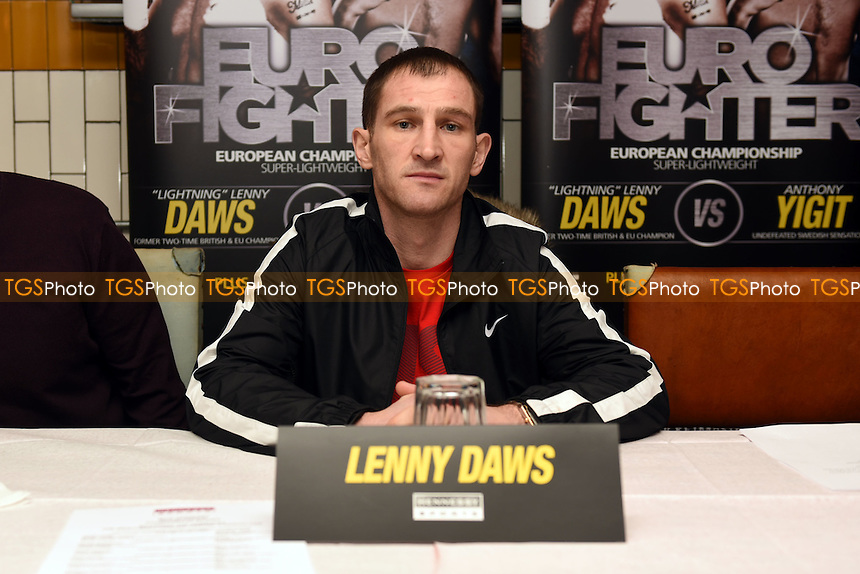 Boxer Lenny Daws looks on during a Hennessy Sports Press Conference at the Sports Bar & Grill, Marylebone on 9th February 2017