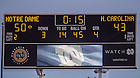 Oct 11, 2014; Scoreboard indicating the final score of the North Carolina game. (Photo by Matt Cashore)