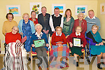 Art work: The artistic residents of Aras Mhuire Nursing Home in Listowel who launched their art exhibition this weekend. Front l-r Nell Costello, Eileen Fitzgibbon, Bridie Hannon, Ann Kerins and Kitty Barry. Back l-r Bridie O'Sullivan, Eileen Moriarty, Mary King, Sean Collins, John Murphy, Michelle O'Donnell (art tutor), Mary Ellen Buckley and James Gould.   Copyright Kerry's Eye 2008
