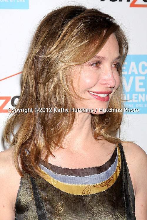 LOS ANGELES - OCT 26:  Calista Flockhart arrives at the 41st Annual Peace Over Violence Humanitarian Awards at Beverly Hills Hotel on October 26, 2012 in Beverly Hills, CA