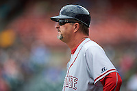 Syracuse Chiefs manager Billy Gardner (24) during a game against the Buffalo Bisons on July 31, 2016 at Coca-Cola Field in Buffalo, New York.  Buffalo defeated Syracuse 6-5.  (Mike Janes/Four Seam Images)