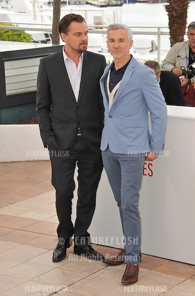 "Leonardo DiCaprio & director Baz Luhrmann at the photocall for their movie ""The Great Gatsby"" at the 66th Festival de Cannes..May 15, 2013  Cannes, France.Picture: Paul Smith / Featureflash"