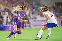 Orlando, FL - Saturday June 03, 2017: Rachel Hill, Brooke Elby during a regular season National Women's Soccer League (NWSL) match between the Orlando Pride and the Boston Breakers at Orlando City Stadium.