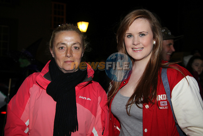 Julie Phelie and Lauren Campbell.at the walking ghost tours in Millmount..Picture: Fran Caffrey/www.newsfile.ie.