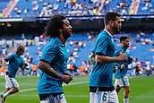 13th September 2017, Santiago Bernabeu, Madrid, Spain; UCL Champions League football, Real Madrid versus Apoel; Marcelo Viera da Silva (12) Real Madrid Jose I. Fernandez Iglesias (6) Real Madrid   during warm-up