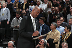 WINSTON-SALEM, NC - JANUARY 23: Wake Forest head coach Danny Manning. The Wake Forest University Demon Deacons hosted the Duke University Blue Devils on January 23, 2018 at Lawrence Joel Veterans Memorial Coliseum in Winston-Salem, NC in a Division I men's college basketball game. Duke won the game 84-70.