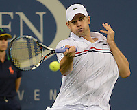 FLUSHING NY- SEPTEMBER 4: Andy Roddick Vs Juan Martin Del Potro on Armstrong stadium at the USTA Billie Jean King National Tennis Center on September 4, 2012 in Flushing Queens.  Credit: mpi04/MediaPunch INc. ***NO NY NEWSPAPERS*** /NortePhoto.com<br />