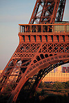 A closed up view of Eiffel Tower La tour eiffel at dusk. City of Paris. Paris.France