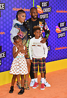 Chris Paul, Jada Crawley, Camryn Alexis Paul & Christopher Emmanuel Paul II at the Nickelodeon Kids' Choice Sports Awards 2018 at Barker Hangar, Santa Monica, USA 19 July 2018<br /> Picture: Paul Smith/Featureflash/SilverHub 0208 004 5359 sales@silverhubmedia.com