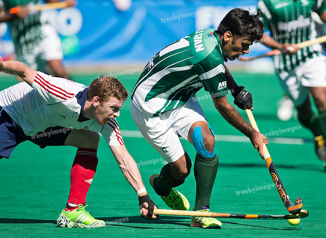 01/07/2015<br /> HWL Semi Final Antwerp Belgium 2015<br /> Great Britain v Pakistan Men<br /> Ali Shan<br /> Photo: Grant Treeby