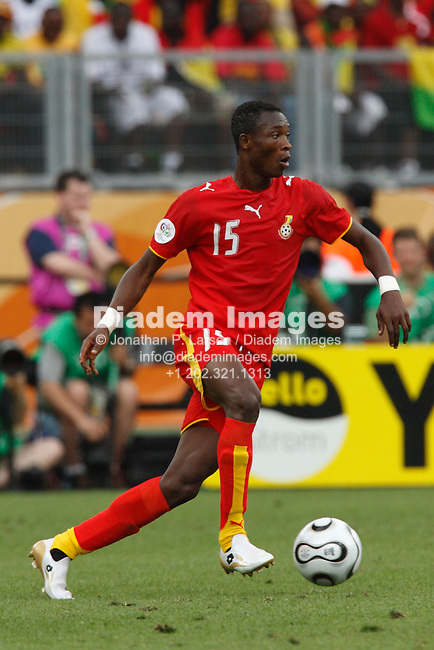 NUREMBERG, GERMANY - JUNE 22:  John Pantsil of Ghana in action during a 2006 FIFA World Cup soccer match against the United States June 22, 2006 in Nuremberg, Germany.  (Photograph by Jonathan P. Larsen)