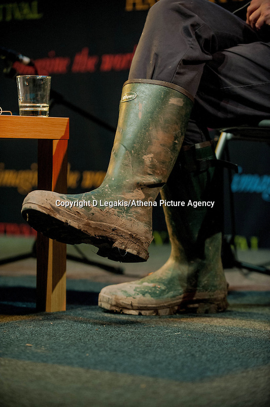 Tuesday 27 May 2014, Hay on Wye, UK<br /> Pictured: Photographer Martin Parr<br /> Re: The Hay Festival, Hay on Wye, Powys, Wales UK