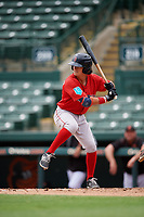 Boston Red Sox Ryan Fitzgerald (12) at bat during a Florida Instructional League game against the Baltimore Orioles on October 8, 2018 at the Ed Smith Stadium in Sarasota, Florida.  (Mike Janes/Four Seam Images)