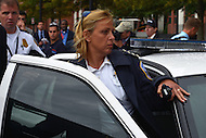 September 16, 2013  (Washington, DC)  D.C. Metropolitan Police Chief Cathy Lanier leaves the area of the Washington Navy Yard after she and other officals addressed the news media about the Navy Yard shootings September 16, 2013.  (Photo by Don Baxter/Media Images International)